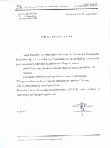 Rekomendacja Urzędu Skarbowego w Przeworsku
