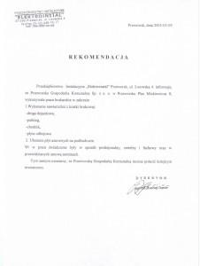 """Rekomendacja Przedsiębiorstwa Instalacyjnego """"Elektroinstal"""" w Przeworsku"""