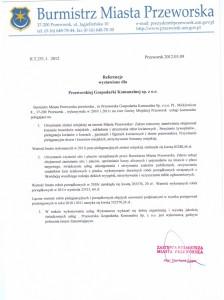Referencje Burmistrza Miasta Przeworska